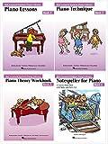 Hal Leonard Student Piano Library Level 2 Books Set (4 Books) - Lesson 2, Technique 2, Theory 2, Notespeller 2