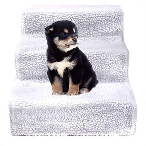 Jie KE huisdier hond trap stappenteller kat en hond ladder spons tafel ladder springen platform huisdier bed trappen hanglager 20 kg licht en draagbaar wit