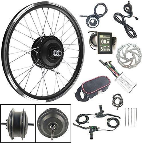 SCHUCK Kit di conversione del Motore per Bici elettrica a Ruota Anteriore da 36V 250W 26 Pollici con Display a Cristalli liquidi KT-LCD8S