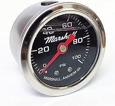 Marshall Instruments LB00100 Liquid Filled Fuel Pressure Gauge
