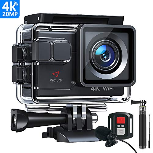 Victure AC700 4K 20MP Action Camera, 40M Waterproof...
