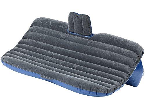 Lescars Autobett: Aufblasbares Bett für den Auto-Rücksitz mit 12-Volt-Luftpumpe (Auto Luftbetten)