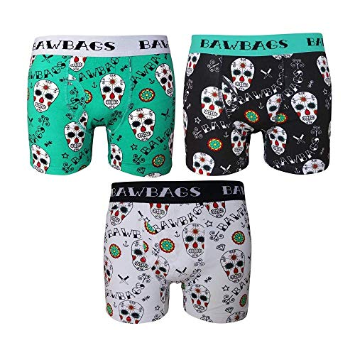 Bawbags 3 Pack Day Of The Dead Underwear - Mixed