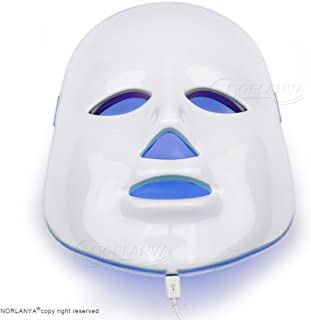 NORLANYA Facial Toning LED Mask Wrinkle Remove Acne Clearing Anti Aging Skin Caring Device - Blue Red Green Light