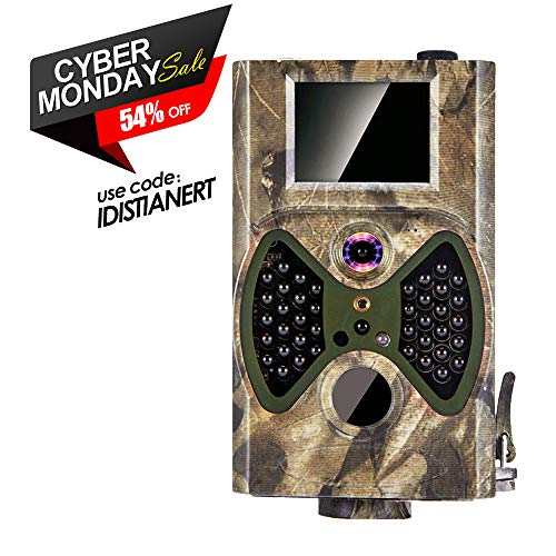 Trail Camera, 2018 Upgraded Distianert 720P 12MP Hunting Game Camera, Wildlife Camera with Upgraded...