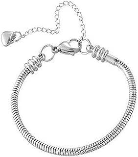 Daisy Jewelry Women Girls Snake Chain Charm Bracelet for Charms Bead