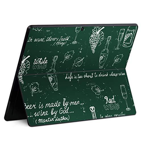 igsticker Surface Pro X 専用スキンシール サーフェス プロ エックス ノートブック ノートパソコン カバー ケース フィルム ステッカー アクセサリー 保護 006296 その他 ワイン ぶどう イラスト