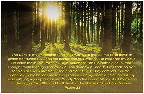 Psalm 23 Inspirational Christian Poster-E70