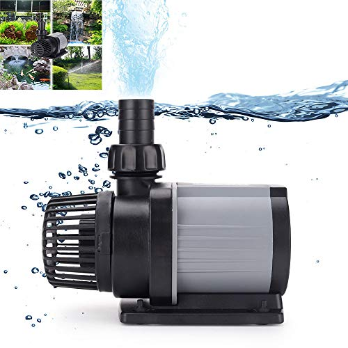 IOPJKL Pompe de Filtre d'étang, Filtre à fréquence Variable Pompe à Eau de réservoir de Poissons Débit réglable Muet Pompe à Eau à économie d'énergie(4000, Black)