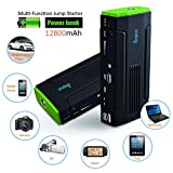 Multi-Functional Powerbank & Portable 600A Peak 12000mAh Car Battery Charger JumpStarter with Strobe & Emergency LEDs