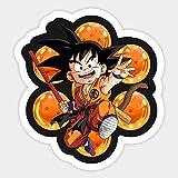 HUNSHA Etiqueta engomada del Coche de la Historieta de la Bola del dragón de Goku calcomanía de protección Solar...