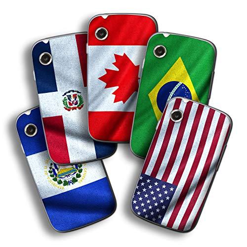 atFolix Designfolie kompatibel mit Wiko Ozzy, wähle Dein Lieblings-Design aus, Skin Aufkleber (Flaggen aus Amerika)