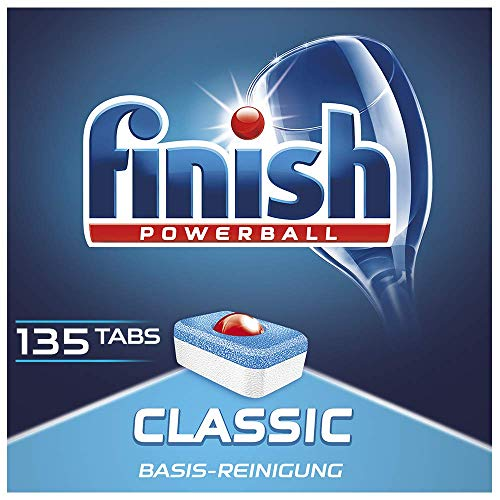 Finish Classic Spülmaschinentabs, Sparpack, 1er Pack (1 x 135 Tabs)