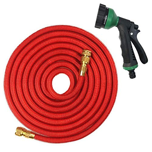 Expandable Garden Magic Hose Flexible Garden Waterslang High Pressure For Auto Tuinslang Plastic Slangen Om Watering Met Spray Gun (groen) (Color : Red, Size : 75ft)
