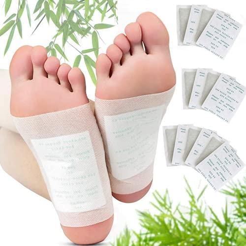 20 almohadillas de pie 2 en 1 actualizadas de Nuubu, parches de pies desintoxicantes, para el cuidado de los pies, eliminar las impurezas, aliviar el estrés, mejorar el sueño
