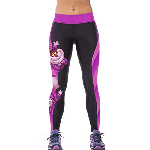 b15f442e3f208 Alive Women's Fitness Yoga Sport Pants Digital Printed Stretch Ankle Legging  Tights Pants one Size