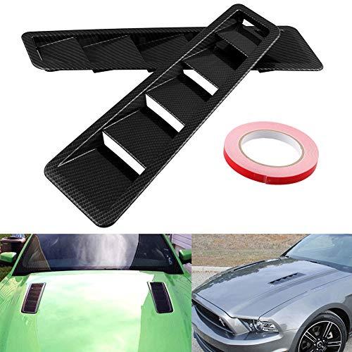 housesweet 2er Pack Auto Auto Dekorativ Luftstrom Ansaugschaufel Motorhaube Kotflügel seitlich Dunstabzugshaube Auto Modifikationen Zubehör