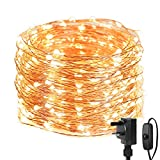 LE Christmas Fairy Lights Mains Powered, 20M 200 LED Warm White Christmas Lights, Waterproof Copper Wire String Lights for Indoor Outdoor, Wedding Decorations, Party, Bedroom, Garden and More