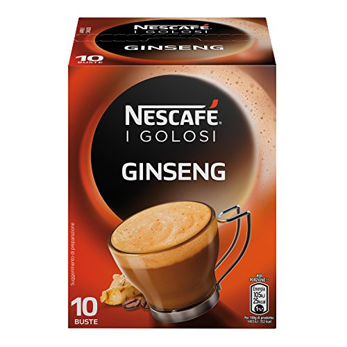 10x Tassen NESCAFE Ginseng Kaffee Coffee Instant 7g kaffeemilch Pulverkaffe