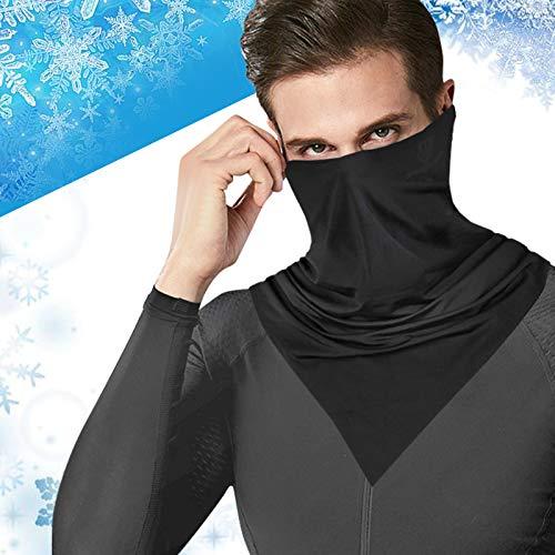 AUCHIKU Multifunktionstuch, Sommer Eisseidenfaser ohrhängend Schlauchtuch Unisex UV-Schutz Atmungsaktiv Hochelastisch Schlauchschal Halstuch Maske für Laufen Radfahren Motorradfahren Outdoor