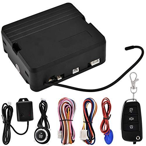Alarma de vibración Sistema de Seguridad para automóvil Interruptor de Control Remoto Luz y Sonido de Puerta Antirrobo Alarma Universal para(with No. 5 Key)