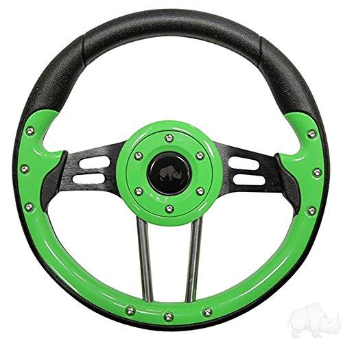 RHOX Aviator 4 Golf Cart Steering Wheel (Lime Green)