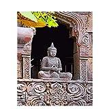 Buda imágenes lienzo arte pintura diy pintura al óleo por números pintura por números set decoración de la pared siete artes de la pared A13 60x80cm