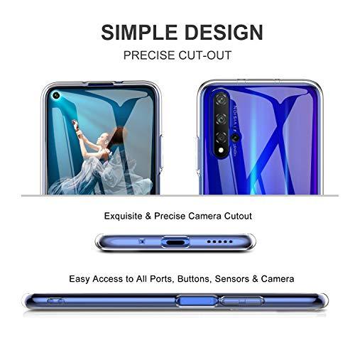 iBetter für Honor 20 Hülle, für Huawei Nova 5T Hülle, Soft TPU Ultradünn Cover [Slim-Fit] [Anti-Scratch] [Shock Absorption] passt für Honor 20 Smartphone, klar - 5