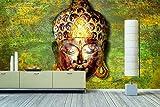 WandbilderXXL Vlies-Fototapete'Buddah' 420x280cm - afrikanische Masken und Sugar Sculls. Top Style für Deine 4 Wände. Nur von WandbilderXXL.