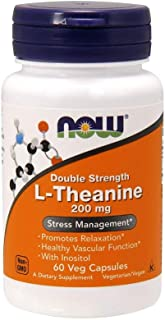 Now Foods L-Theanine 200 Mg Veg-Capsules 60-Count