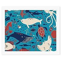 海の海の動物 タコ カメ DIY デジタル絵画オイルハンギング絵画手作りホームウォールアート現代アートワークホームオフィス
