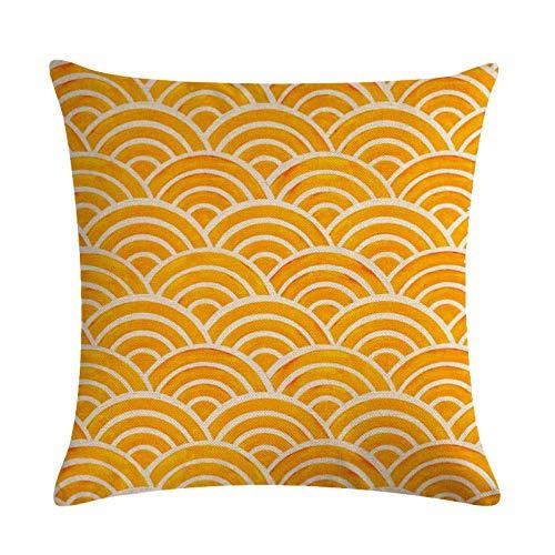 Fundas de Cojín Funda de cojín con diseño de Rayas de Estilo Funda de Almohada de Rayas geométricas Almohadas de Lino para sofá Cama decoración para el hogar 45X45CM