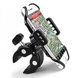 MYCARBON Supporto Cellulare - Porta Cellulare per Moto Bici Scooter MTB, Ruotabile 360°, per Telefono Smartphone entro 6 Pollici, Robusto Regolabile, Anti-graffio