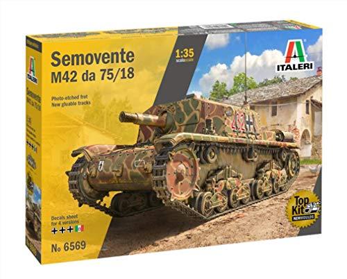 イタレリ タミヤ 1/35 ミリタリーシリーズ No.6569 イタリア軍 セモベンテ M42 da 75/18 プラモデル 38569