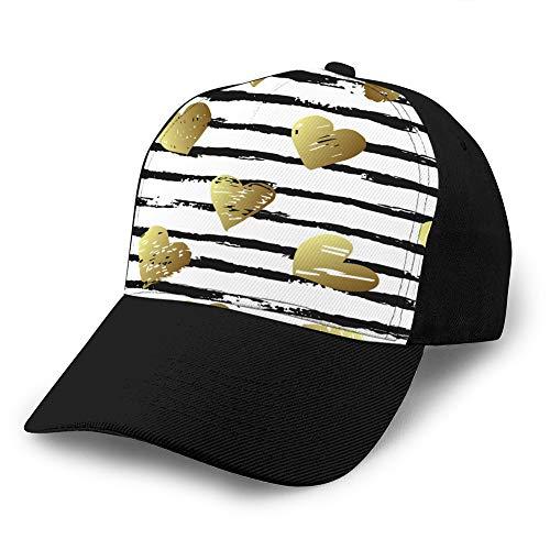 a de béisbol de Mezclilla 4737 para Hombres, Mujeres, Coloridos Patrones sin Fisuras con Trazo de Pincel y Sombrero de Hip Hop