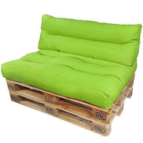 Cojines para europalé Lounge de proheim Set 2 piezas - 1 asiento de cojín...