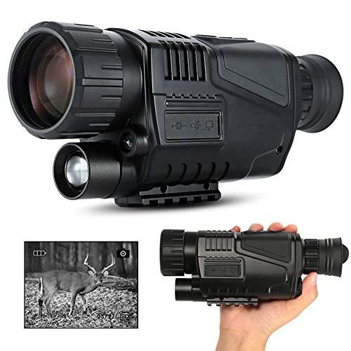 DZKU Monocular Digital Visión Nocturna, 5x40 HD Portátil C