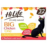HiLife It's Only Natural Cat Food The Big Chicken One, 32 x 70g