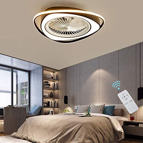 CAGYMJ Ventilador De Techo con Iluminación, Ventilador De 38W LED con Control Remoto, Ajustable Velocidad del Viento Y De Atenuación, Ultra Silencioso Ventilador De Techo Luz.