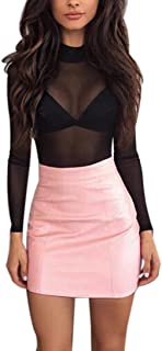 94c80f6c5c03c1 Amazon.fr : jupe simili cuir - Femme : Vêtements