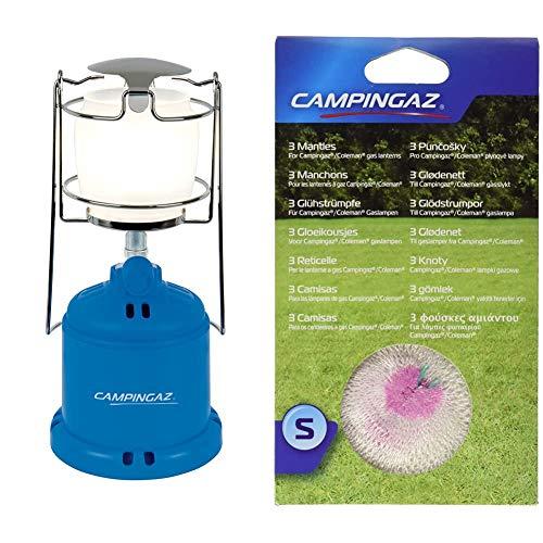 Campingaz 2000010189 Gaslampe Camping 206, blau, Gr. L & Glühstrumpf Größe, Weiß, 9 x 11 x 1 cm