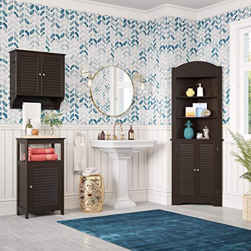 RiverRidge Ellsworth Collection Tall Corner Cabinet, Espresso