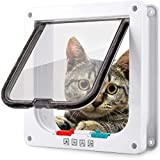 Smilelove Puertas para Gatos, Cierre Magnético para Gatos, Perros Grandes, Puerta para Perros, Gatos y Mascotas, Fácil de Instalar con Marco Telescópico (M 19 * 20 * 5,5cm)