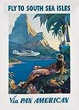 Retro-Reiseplakat, Südeseeinseln mit Pan American World