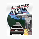 Hakone Toyota Ae86 Trueno Poster Small (16.4 x 20.6 in) | Posters Wall Art for College University Dorms, Blank Walls, Bedrooms | Gift Great Cool Trendy Artsy Fun Awesome Present
