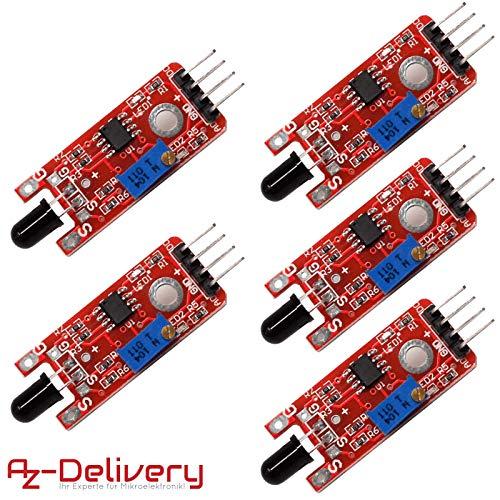 AZDelivery 5 x Vlammensensor KY-026 Module Branddetector voor Arduino