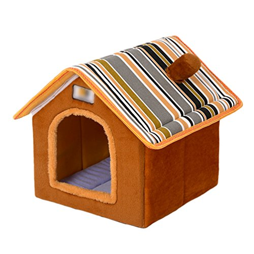 LvRao Pet Home Bed Kennel Folding Cuccia con...