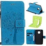 Ekakashop kompatibel mit Motorola Moto G5 Hülle Leder Flip Hülle,Leder Tasche Wallet Hülle Stand Lederhülle Brieftasche Protective Schutzhülle Handyhülle kompatibel mit Motorola Moto G5,EINWEG