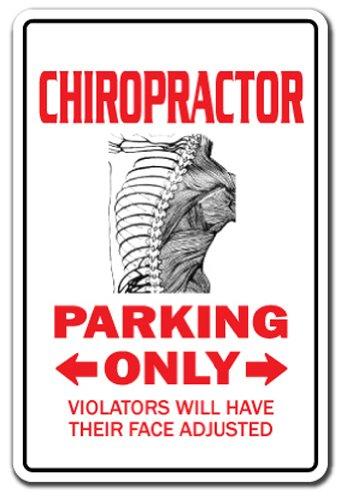 "CHIROPRACTOR Sign parking back DC adjustment Chiropractic   Indoor/Outdoor   12"" Tall Plastic Sign"