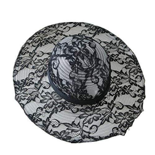 Viseras Sombreros para El Sol Lady Lace Letter Kogan Yarn Beach Holiday Protector Solar Aro Sombrilla Gorra